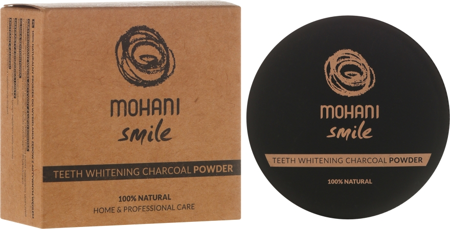 Praf de dinți pentru albire - Mohani Smile Teeth Whitening Charcoal Powder