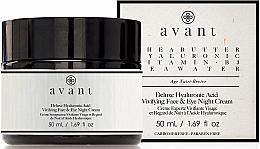 Parfumuri și produse cosmetice Cremă cu acid hialuronic, de noapte - Avant Skincare Deluxe Hyaluronic Acid Night Cream