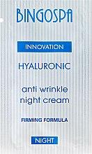 Parfumuri și produse cosmetice Cremă de față - BingoSpa Hyaluronic Anti Wrinkle Night Cream (Mostră)