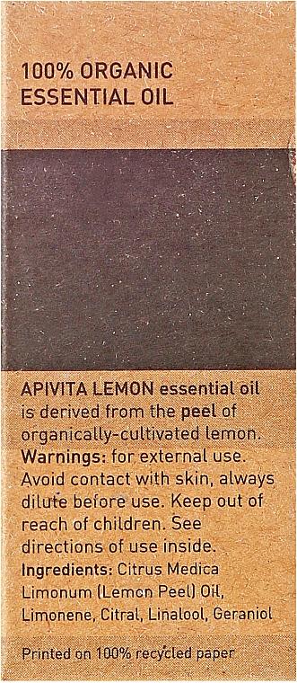 "Ulei esențial ""Lămâie"" - Apivita Aromatherapy Organic Lemon Oil — Imagine N3"