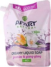 """Parfumuri și produse cosmetice Săpun lichid """"Iasomie și Ylang Ylang"""" - Apart Natural Jasmine & Ylang Ylang Soap (doy-pack)"""