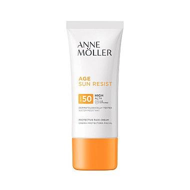 Cremă cu protecție solară pentru față - Anne Moller Age Sun Resist Protective Face Cream SPF50 — Imagine N1