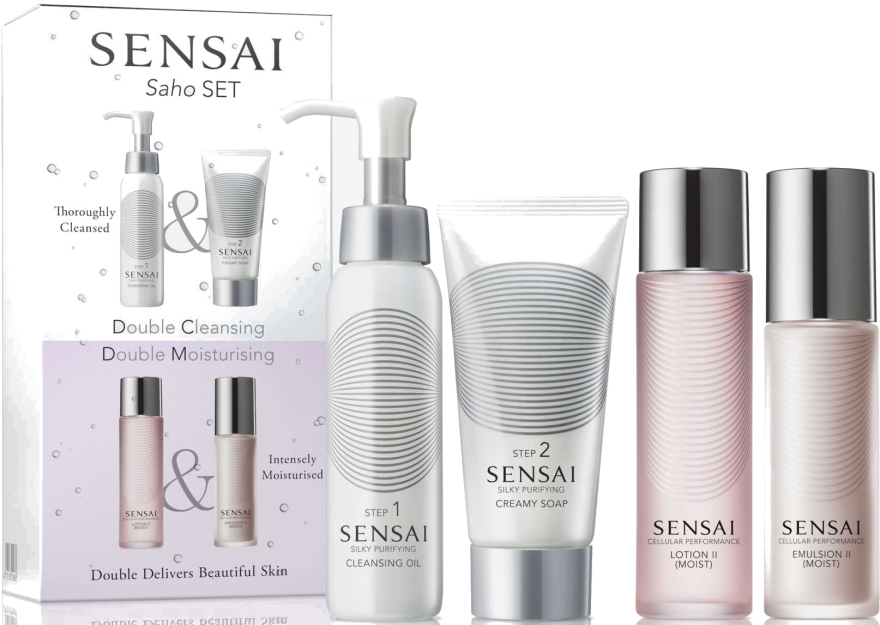 Set - Kanebo Sensai (oil/75ml + cr/soap/75ml + lot/60ml + emulsion/50ml) — Imagine N1