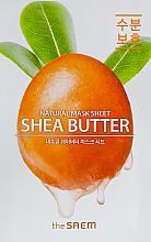 Parfumuri și produse cosmetice Mască din țesătură cu unt de shea pentru față - The Saem Natural Shea Butter Mask Sheet