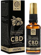 Parfumuri și produse cosmetice Ulei natural de migdale dulci CBD 250mg - Dr. T&J Bio Oil