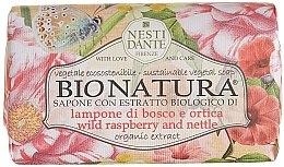 """Parfumuri și produse cosmetice Săpun """"Zmeură și urzici"""" - Nesti Dante Bio Natura Bush Raspberry & Nettle Soap"""