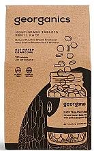 """Parfumuri și produse cosmetice Tablete pentru apă de gură """"Cărbune activat"""" - Georganics Mouthwash Tablets Refill Pack Activated Charcoal (rezervă)"""