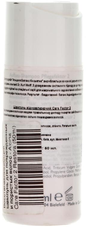 Șampon pentru părul deteriorat - Alcina Care Factor 2 Restorative Shampoo — Imagine N2