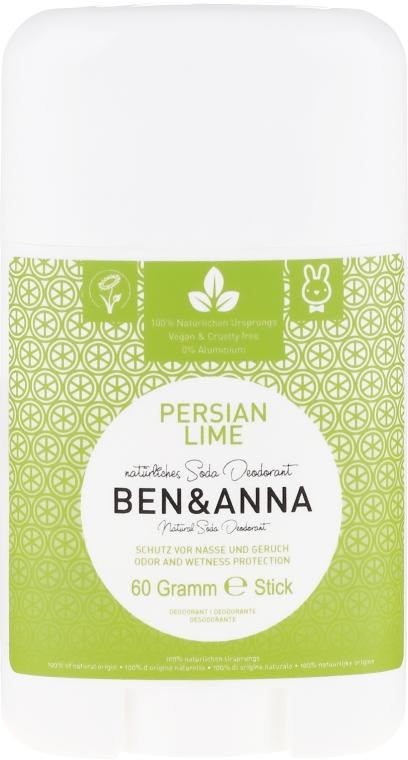 "Deodorant stick, ""Persian Lime"" - Ben & Anna Natural Soda Deodorant Persian Lime"