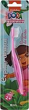 """Parfumuri și produse cosmetice Periuță de dinți, pentru copii """"Dora"""", roz - Kin Kid's Dora The Explorer Toothbrush"""