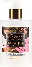 Parfumuri și produse cosmetice Cremă hidratantă de mâini și picioare - Bielenda Professional Nailspiration Baroque Nourishing Hand & Nail Cream