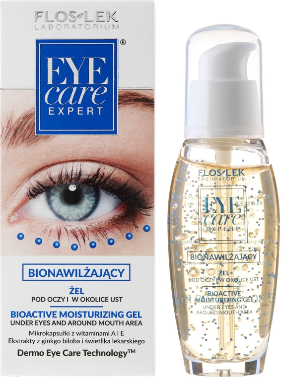 Gel Bio Activ hidratant pentru ochi - Floslek Eye Care Bioactive Moisturizing Gel Under Eyes And Around Mouth Area