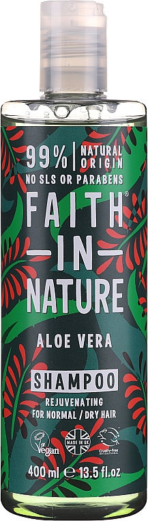 """Șampon pentru păr normal și uscat """"Aloe Vera"""" - Faith In Nature Aloe Vera Shampoo"""