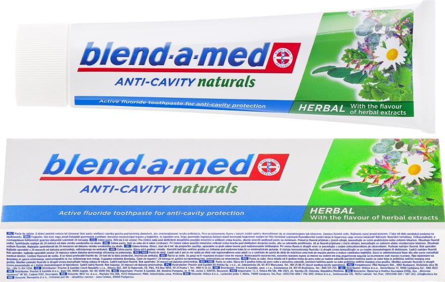 Pastă de dinți - Blend-a-med Anti-Cavity Herbal Natural
