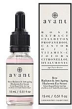 "Parfumuri și produse cosmetice Ser anti-îmbătrânire pentru zona ochilor ""Rose Radiance"" - Avant Rose Radiance & Anti-ageing Hyaluronic Eye Serum"