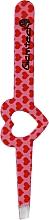 Parfumuri și produse cosmetice Pensetă pentru sprâncene, roz, cu inimi roșii - Glamtech Valentines Tweezer