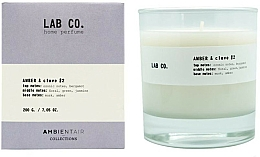 Parfumuri și produse cosmetice Lumânare parfumată - Ambientair Lab Co. Amber & Clove
