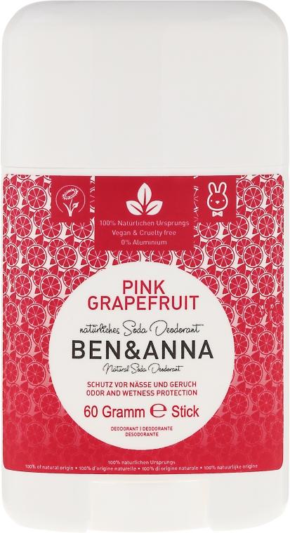 "Deodorant stick ""Grapefruit roz"" - Ben & Anna Natural Soda Deodorant Pink Grapefruit"