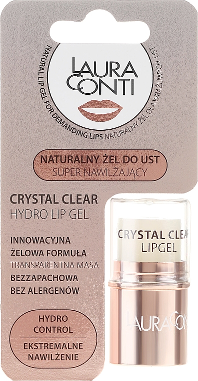 Gel de buze - Laura Conti Crystal Clear Hydro Lip Gel — Imagine N1
