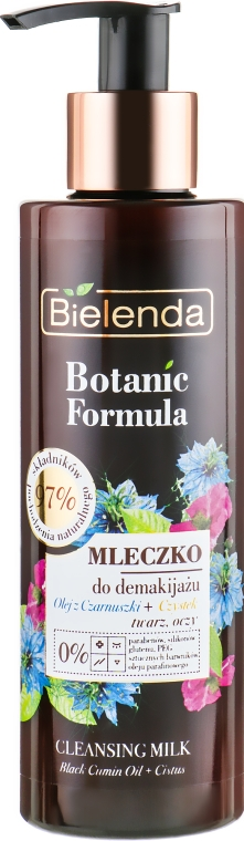 Lăptișor demachiant - Bielenda Botanic Formula Black Seed Oil Cistus Cleansing Milk