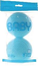 Parfumuri și produse cosmetice Set burete de baie, 2 buc., albastre - Suavipiel Baby Soft Sponge