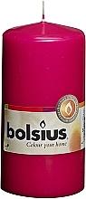 Parfumuri și produse cosmetice Lumânare cilindrică, roz fucsia, 120/58 mm - Bolsius Candle