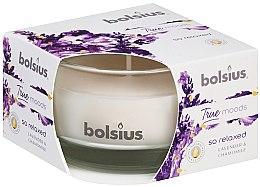 """Parfumuri și produse cosmetice Lumânare aromată în suport de sticlă """"Lavandă și mușețel"""", 50/80 mm - Bolsius True Moods Candle"""