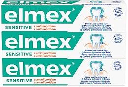 Parfumuri și produse cosmetice Set - Elmex Sensitive Toothpaste (toothpaste/3x75ml)