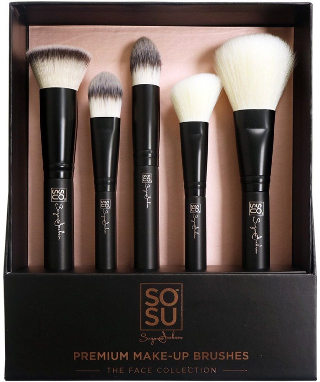 Set pensule pentru machiaj - Sosu by SJ Premium Makeup Brushes (5 buc.)