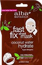 Parfumuri și produse cosmetice Mască hidratantă pentru față - Alba Botanica Fast Fix Coconut Hydrate Sheet Mask