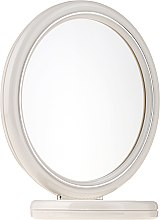 Parfumuri și produse cosmetice Oglindă dublă, cu suport, 15 cm, 9502, albă - Donegal Mirror