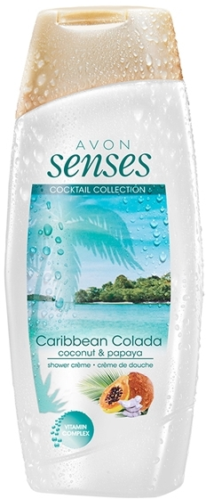 "Cremă-gel de duș, cu vitamine ""Caribbean Colada"" - Avon Senses Caribbean Colada Shower Gel — Imagine N1"