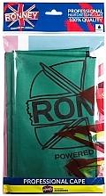 Parfumuri și produse cosmetice Pelerină pentru coafor, impermeabilă, verde - Ronney Professional Waterproof Hairdressing Cape