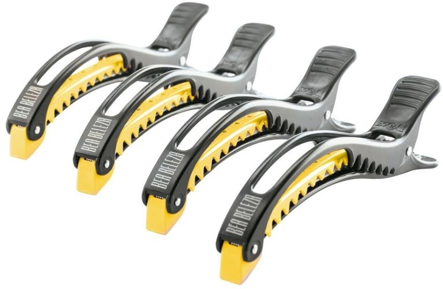 Cleme pentru păr, negru-galben - Dajuja Penguin Clip Black-Yellow — Imagine N1