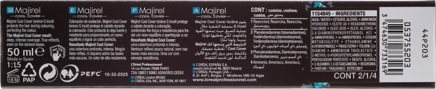 Vopsea rezistentă de păr - L'Oreal Professionnel Majirel Cool Cover — Imagine N3