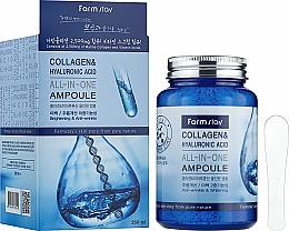 Parfumuri și produse cosmetice Ser de fiole cu colagen și acid hialuronic - FarmStay Collagen & Hyaluronic Acid All-In-One Ampoule
