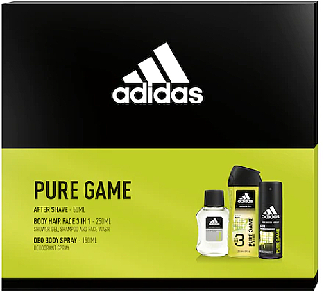 Adidas Pure Game - Set (lot/50ml + deo/150ml + sh/gel/250ml) — Imagine N1
