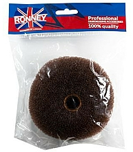 Parfumuri și produse cosmetice Coc pentru păr, 11x4,5 cm, maro - Ronney Professional Hair Bun 050