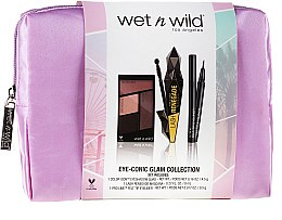 Set - Wet N Wild Eye-Conic Glam Collection (eyesh/palette/4.5g + eyeliner/0.5g + mascara/8ml + bag) — Imagine N1