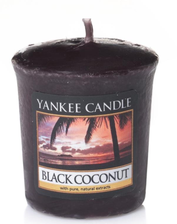 """Lumânarea aromatică """"Cocos negru"""" - Yankee Candle Scented Votive Black Coconut"""