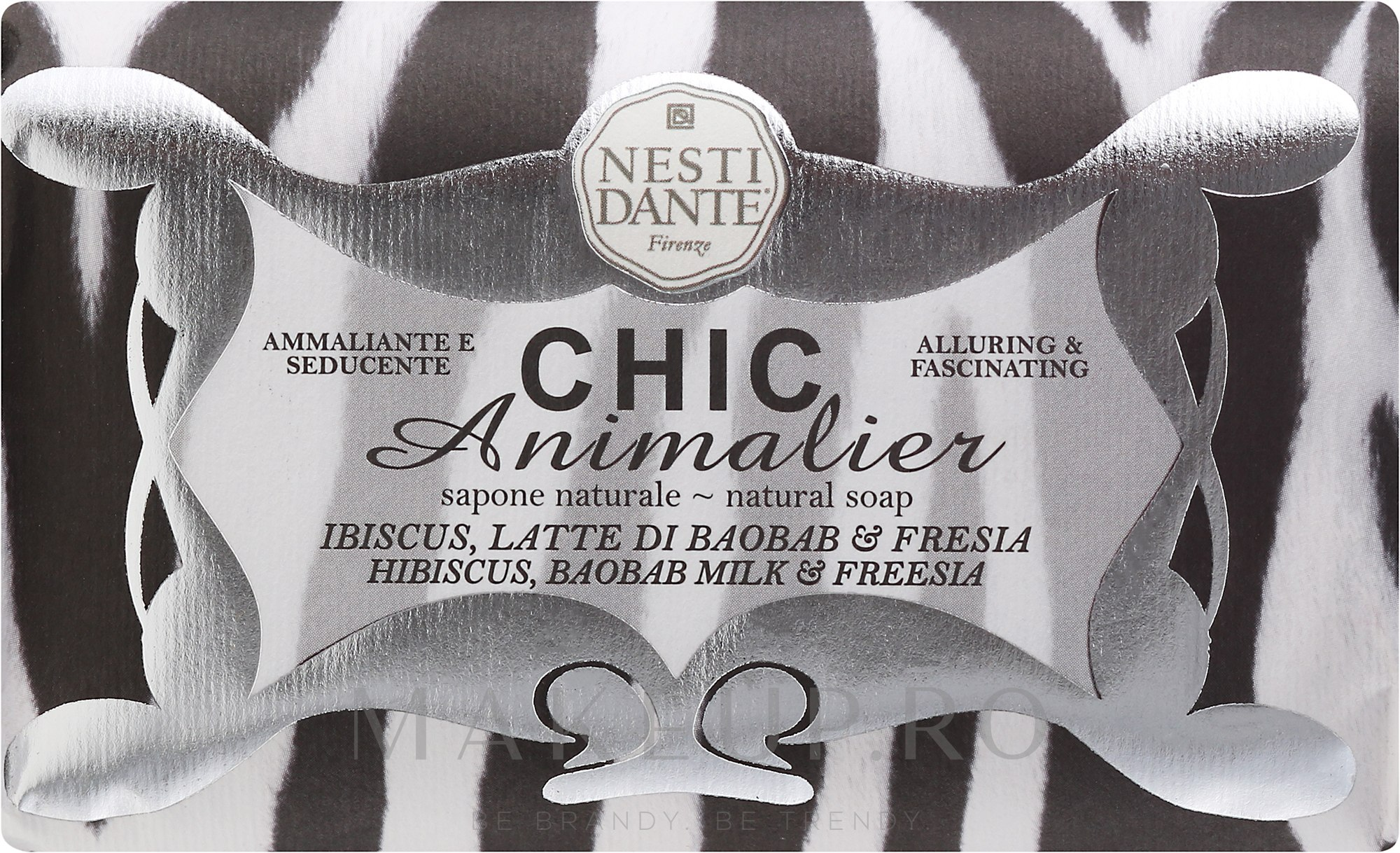 "Săpun ""Tigru alb"" - Nesti Dante Chic Animalier Soap — Imagine 250 g"