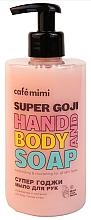 "Parfumuri și produse cosmetice Săpun lichid pentru mâini ""Super Goji"" - Cafe Mimi Super Godji Hand And Body Soap"