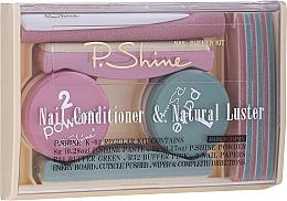 Parfumuri și produse cosmetice Set - P.Shine (n/paste/8g + n/puder/5g + n/pol/5pcs + n/file/1pcs + n/acc/1pcs)