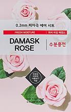 Parfumuri și produse cosmetice Mască subțire cu extract de trandafir de Damasc pentru față - Etude House Therapy Air Mask Damask Rose
