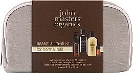 Parfumuri și produse cosmetice Set - John Masters Organics Essential Travel Kit For Normal Hair (sh/60ml + detangker/60ml + volumizer/30ml + oil/3ml)