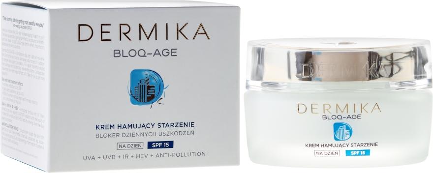 Cremă de zi pentru față - Dermika Bloq-Age Anti-Ageing Cream SPF15