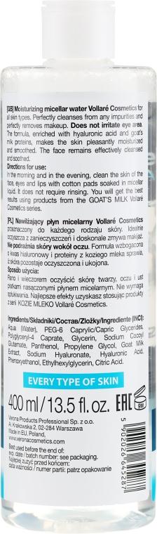 Apă micelară - Vollare Goat's Milk Micellar Water Hedra Hyaluron — Imagine N2