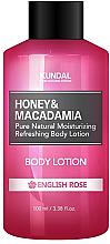 """Parfumuri și produse cosmetice Loțiune de corp """"Trandafir englez"""" - Kundal Honey & Macadamia Body Lotion English Rose"""