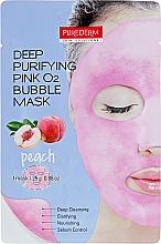 """Parfumuri și produse cosmetice Mască purificatoare """"Piersică"""" - Purederm Deep Purifying Green O2 Bubble Mask Peach"""