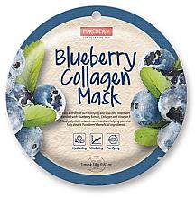Parfumuri și produse cosmetice Mască de colagen cu afine - Purederm Blueberry Collagen Mask